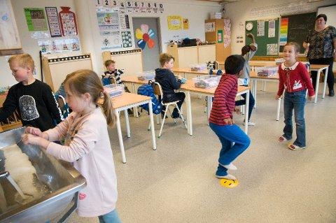 Arkivfoto fra Sandved skole tidligere i år.