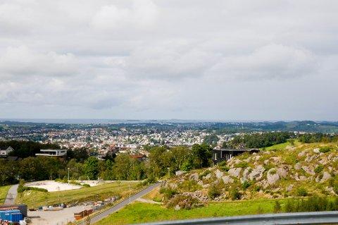 Utsikten fra de nye boligene på Vedafjell er noe utenom det vanlige.