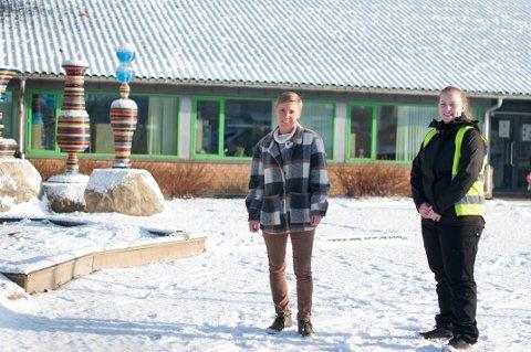 Anne Tove Thorsen og Siri Gilje Pedersen var to av flere ansatte ved Hana skole som ble smittet av korona etter nyttår.