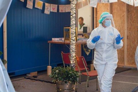 Bildet er tatt ved luftveislegevakten i Klepp.