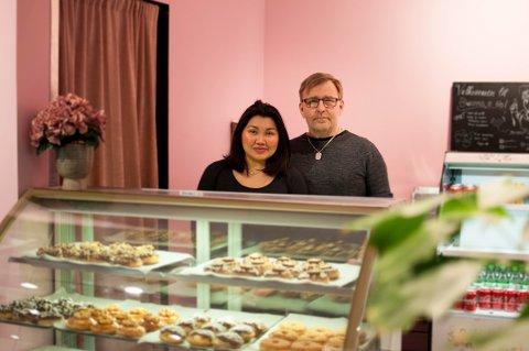 SUKSESS: Rosalyn Villanueva og Søren Jensen er klar for neste steg knappe seks måneder etter de lagde den første donutsen hjemme på kjøkkenet.