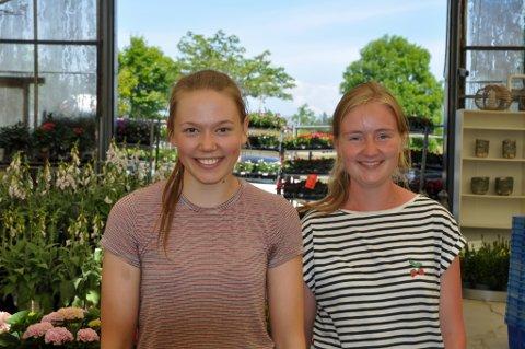 Ida Pollestad Brunes (20) og Gunnhild Øygard Dale (22) har jobbet på Det danske gartneri i mange år.