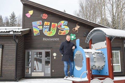 Hovsveien FUS barnehage gikk helt til topps i Forbrukerundersøkelsen. Her ved daglig leder Jan Magnus Rekdahl.