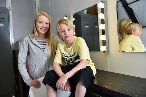 Spøkelseshistorie: Beatrice Akselsen og Simon Pettersen har fått rollen esom søsknene Jenny og Jacob i «Den hvite dame».