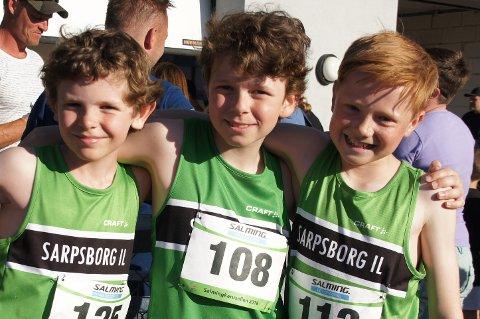Bilde: Fornøyde SIL-gutter i 11-årsklassen. Fra venstre Martinius Midtgaard Sigvartsen, Anders Klefstad Storaker og Fredrik Bjercke-Johansen. Foto: Privat