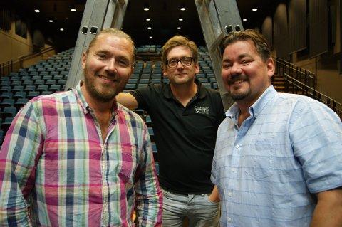 GLEDER SEG: Stian Joneid (t.v.), Halvor Titlestad og Geir André Lie.