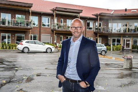 MOENSKOGEN: Trond Frigaard satser også stort som eiendomsutvikler. Moenskogen på Borgenhaugen er det første boligprosjektet. 2.  byggetrinn starter opp i disse dager.