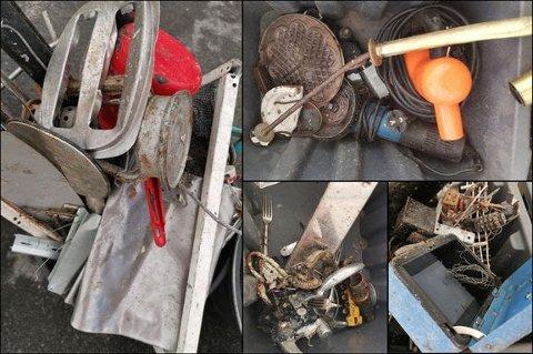 Gryter, bestikk, ledninger eller gamle brødristere skal ikke sorteres som metallemballasje.