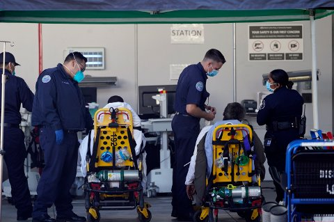 STERKERE: Amerikanerne hevder å ha oppdaget en ny, mer smittsom og farligerer koronavariant. Bildet er fra MLK Community Medical Group hospital i Los Angeles