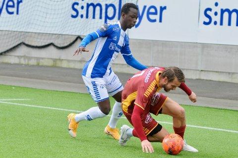 NY KLUBB: Boubacar Konte lånes ut til 1. divisjonsklubb for å få spilletid.