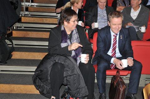 Rita Ottervik, ordfører i Trondheim, deltok på møtet sammen med varaordfører Jørgen Kristiansen fra Kristiansand.