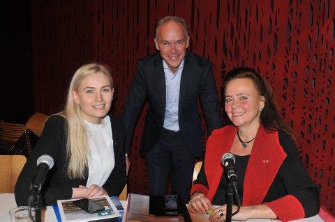 Byrådene Ragni Løkholm Ramberg (t.v.) fra Tromsø og Anna Elise Tryti fra Bergen kan få mer makt hvis kommunalminister Jan Tore Sanner holder det han lover.