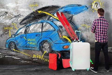 Fullastede biler er et vanlig syn i juletrafikken. Det gjelder å bruke hodet når du pakker.