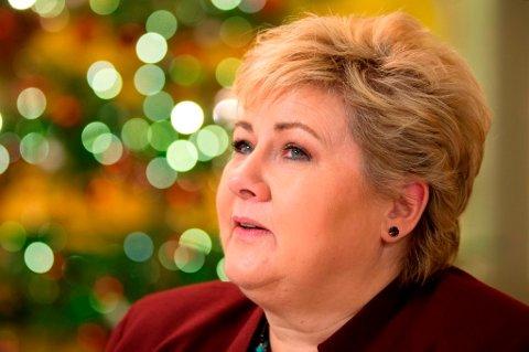 Statsminister Erna Solberg varsler trange rammer i 2017-budsjettet.