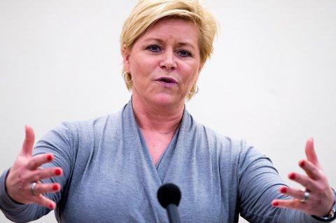 Finansminister Siv Jensen advarer boligkjøperne mot høyere renter. (Foto: Gorm Kallestad, NTB scanpix/ANB)