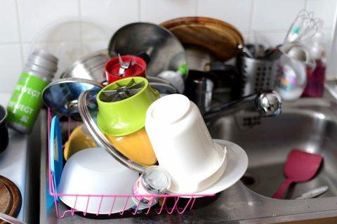 Vi synes kjøkkenkummen er et av flere ekle vaskeområder i huset.