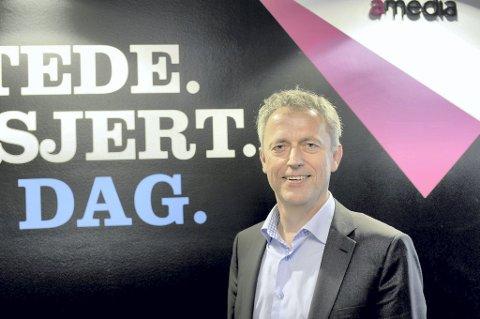 Konsernsjef i Amedia, Are Stokstad, sier at det lenge har vært kjent at det kan komme endringer på eiersiden i konsernet.