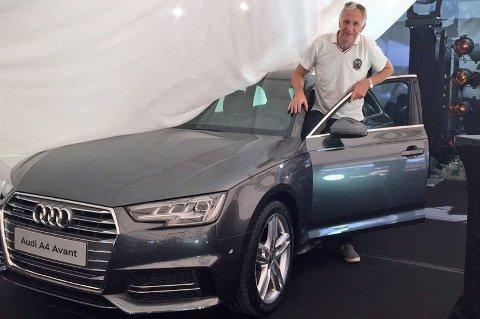 *** Local Caption *** Brooms Benny Christensen fikk muligheten til å stifte nærmere bekjentskap med splitter nye Audi A4, lenge før den offisielle lanseringen i Norge.