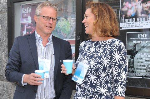 Åge Skinstad har møtt NHO-leder Kristin Skogen Lund i sin nye jobb - som distriktssjef for NHO Innlandet.