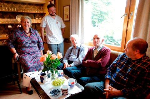 Statsminister Erna Solberg besøkte nylig Manglerudhjemmet i Oslo.