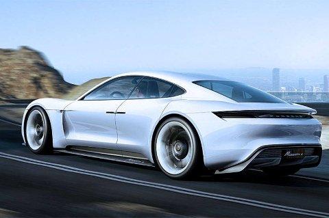 Porsche Mission E er en firedørs elektrisk sportsbil med rå ytelser.