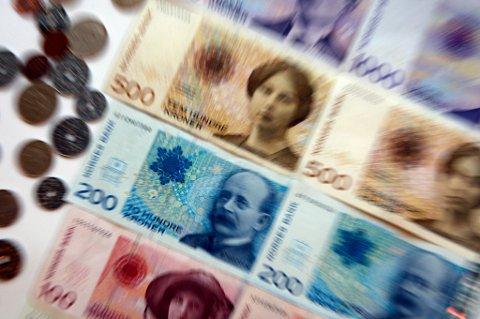 TRONDHEIM  20081031: Div illustrasjonsbilder med norske pengesedler og mynter. Økonomi. Sedler. Sparing. Penger.  Foto:  Gorm Kallestad  / SCANPIX .