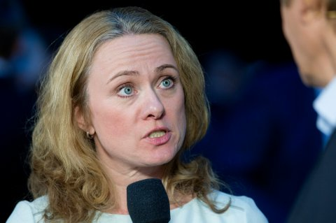 Oslo  20160107. Arbeids- og sosialminister Anniken Hauglie (H) under NHOs årskonferanse i Oslo Spektrum torsdag. Foto: Håkon Mosvold Larsen / NTB scanpix