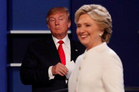 Flere uheldige utspill fra Donald Trump har gjort Hillary Clinton til storfavoritt foran presdientvalget i USA.