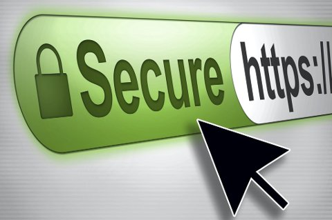 Ved bruk av et SSL-sertifikat vises hengelås (https) og en grønn adresselinje.
