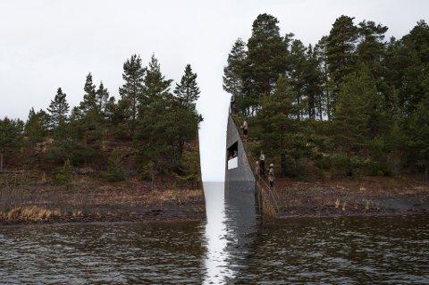 Illustrasjonsbilde av kunstverket som vant konkurransen om et minnesmerke for 22. juli. Vinneren er den svenske kunstneren Jonas Dahlberg.