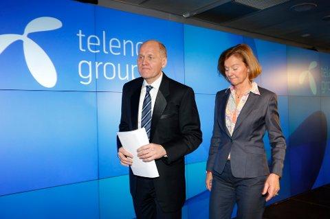 Konsernsjef Sigve Brekke og styreleder Gunn Wærsted i Telenor hevder det ikke har vært noen maktkamp mellom dem.