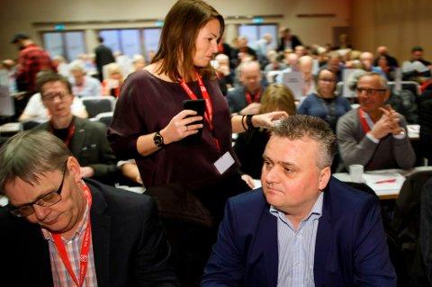 Forbundsleder i Fellesforbundet, Jørn Eggum, og forbundsleder i Handel og Kontor, Trine Lise Sundnes, står midt i stridens kjerne når det gjelder tariffuttalelsen til LO.