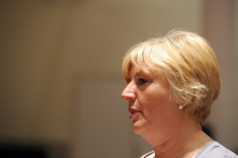 Erna Hagensen på LO sitt representantskap. (Foto: Terje Pedersen, ANB) *** Local Caption *** Erna Hagensen på LO sitt representantskap.