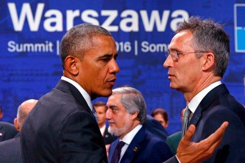 USA-president Barack Obama og generalsekretær Jens Stoltenberg var begge sentrale under Nato-toppmøtet i Warszawa.