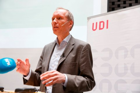 UDI-direktør Frode Forfang oppsummerte første halvdel av asylåret 2016 for pressen tirsdag.