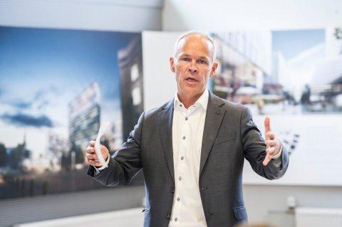 Kommunal- og moderniseringsminister Jan Tore Sanner (H) i bresjen for prisen «Attraktiv by».