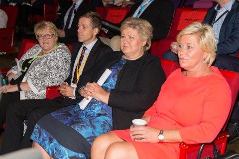 Kutt i sykelønn er et krav til partilederne Siv Jensen, Erna Solberg, Knut Arild Hareide og Trine Skei Grande.