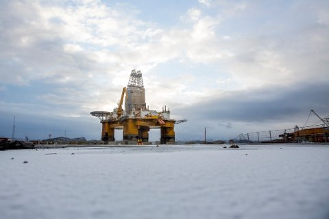 Ordrereservene for leverandører til olje- og gassindustrien faller mest, viser SSBs statistikk. På bildet oljeplattformen Deepsea Atlantic i opplag på Hanøytangen utenfor Bergen i januar i fjor.