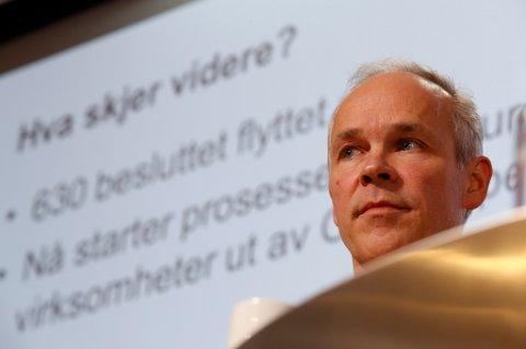 Kommunalminister Jan Tore Sanner la fram regjeringens plan for lokalisering av statlige arbeidsplasser.