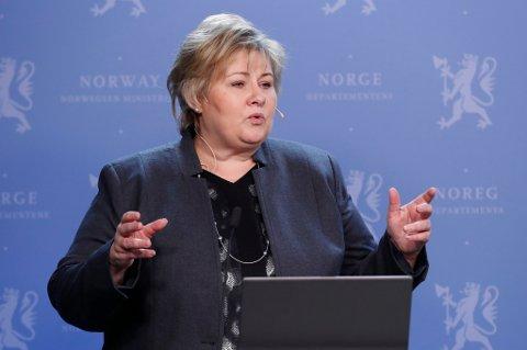 Statsminister Erna Solberg besøker Kina i helgen.