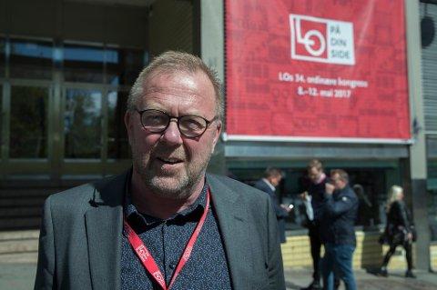 Forbundsleder i El- og It Forbundet, Jan Olav Andersen, forbereder seg på et tøft oppgjør om EØS-avtalen i løpet av LO-kongressen.