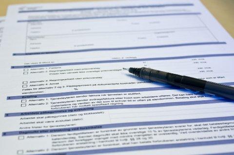 Skriv alltid under kontrakt, uansett om det er en stor eller liten jobb som skal gjøres.