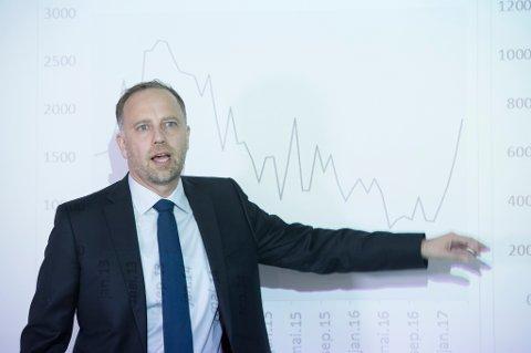 Christian Vammervold Dreyer i Eiendom Norge la fram boligprisstatistikken for mai tirsdag.