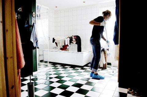 Rundt 11 prosent av norske hjem har betalt vaskehjelp.