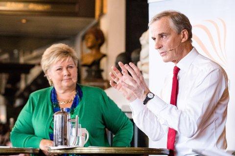Valgkampen ble innledet onsdag med duell mellom statsminister Erna Solberg og Ap-leder Jonas Gahr Støre.