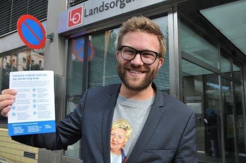 Stefan Heggelund (H) med ti Høyre-vedtak som han mener LO bør glede seg over.