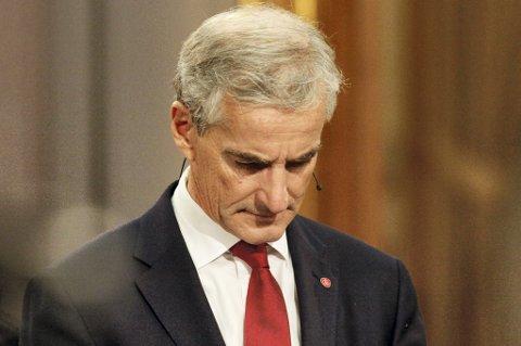 Ap-leder Jonas Gahr Støre har grunn til å henge med hodet etter partiets store fall i årets stortingsvalg.