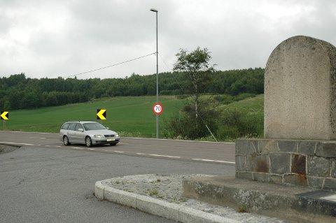E18: Ransforsøket skjedde her ved fylkesstøtta på E18 på grensen til Hobøl kommune torsdag kveld.
