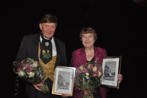 To nye æresmedlemmer, Lars Egeberg og Karen Helene Brødholt