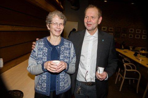 På HVER SIN SIDE: Høyres Karen Eg Taraldrud og Venstres Glenn Bjerke var alt annet enn enige.